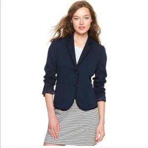 Gap navy blue Academy blazer with black piping